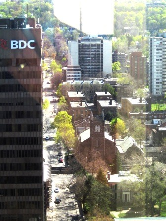 View of MacNab from Stelco Tower
