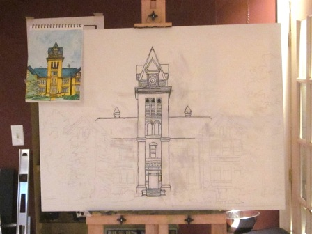 Day 2 of the Central School Canvas Sketch