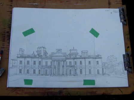 Completed Dundurn Castle Sketch