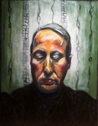Self-Portrait -acrylics on canvas