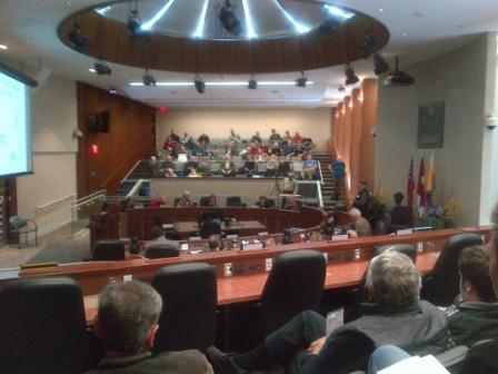 Council Chambers at Hamilton City Hall