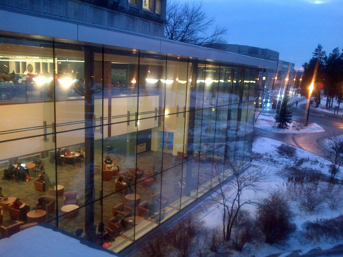 Outside HSC Building - Campus