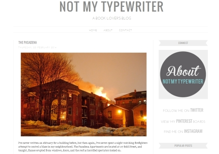 Blog - Not My Typewriter