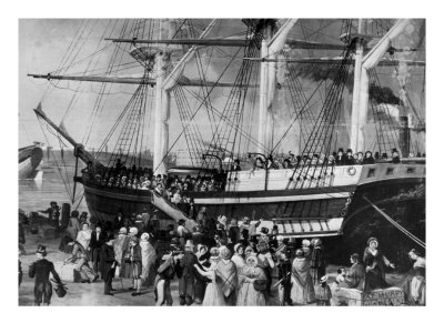 1855 Irish disembarking at NYC