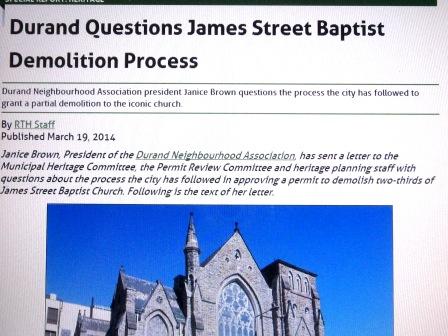 Durand Neighbourhood Association Raises Questions