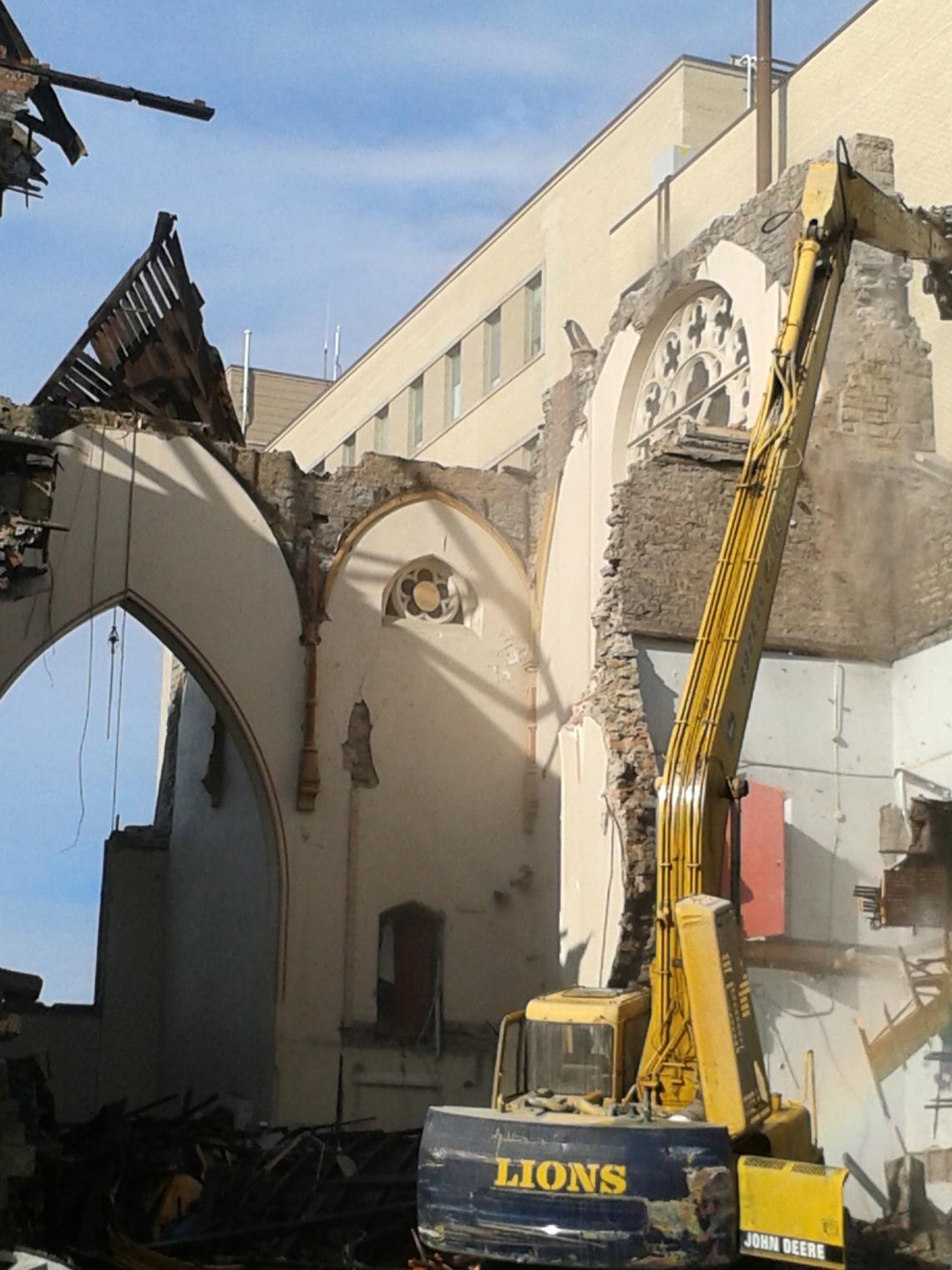 James Street Baptist Church Partial Demolition on June 6, 2014