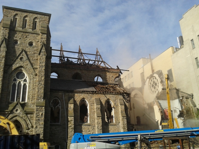 James St. Baptist Church Demolition