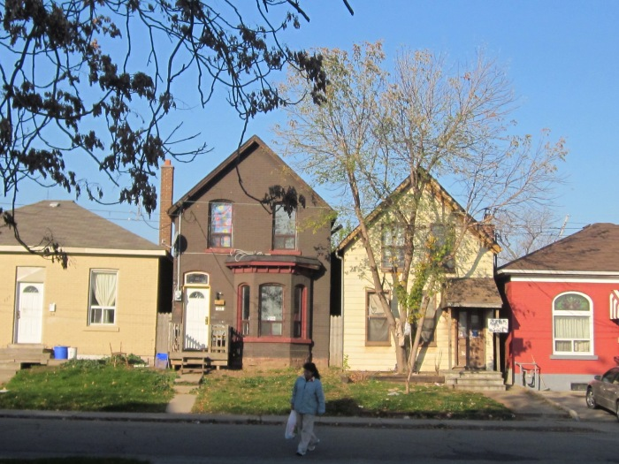 1860s Housing on Elgin Street, Hamilton (Ont)