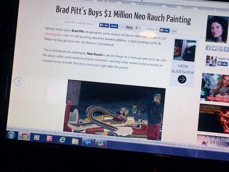 Brad Pitt buys Neo Rauch