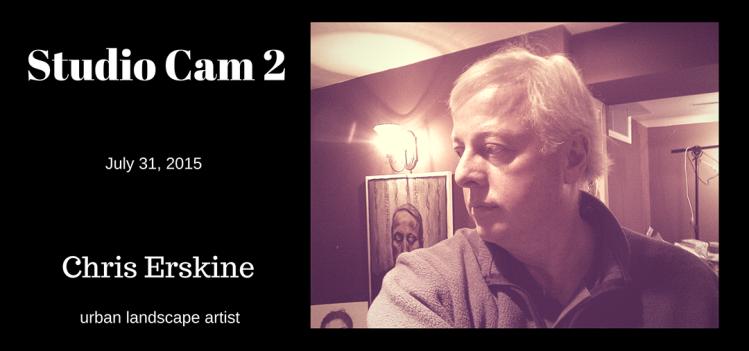 Studio Cam 2 - a peak into artist chris erskine's studio