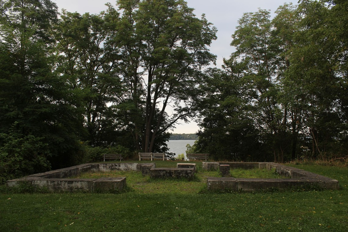 The former family cemetery for the MacNab at Inchbuie