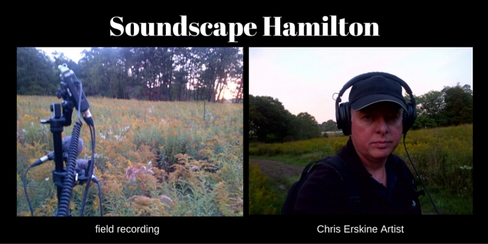 field recording at Princess Point, Hamilton (Ont).