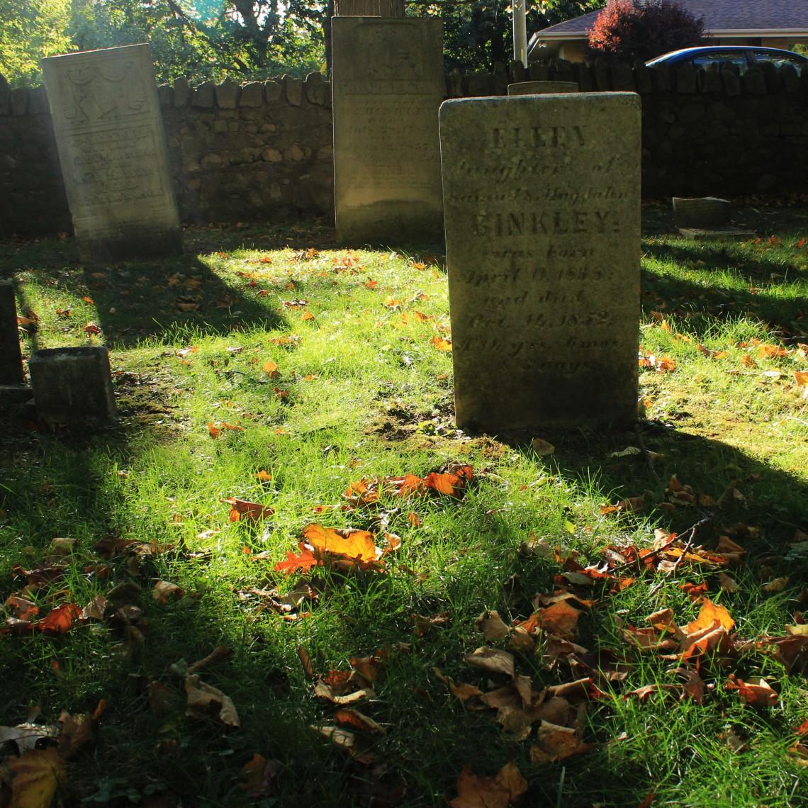 Binkley Hallow Graveyard, Hamilton (Ont) . Photo by @erskinec