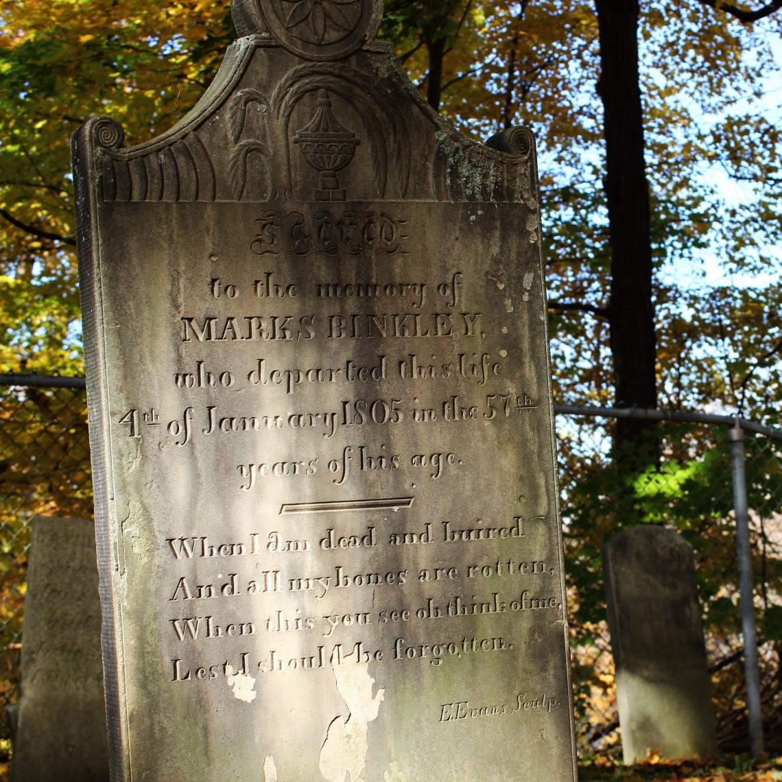 Binkley 1803 Cemetery, Hamilton (Ont). Photo by @erskinec