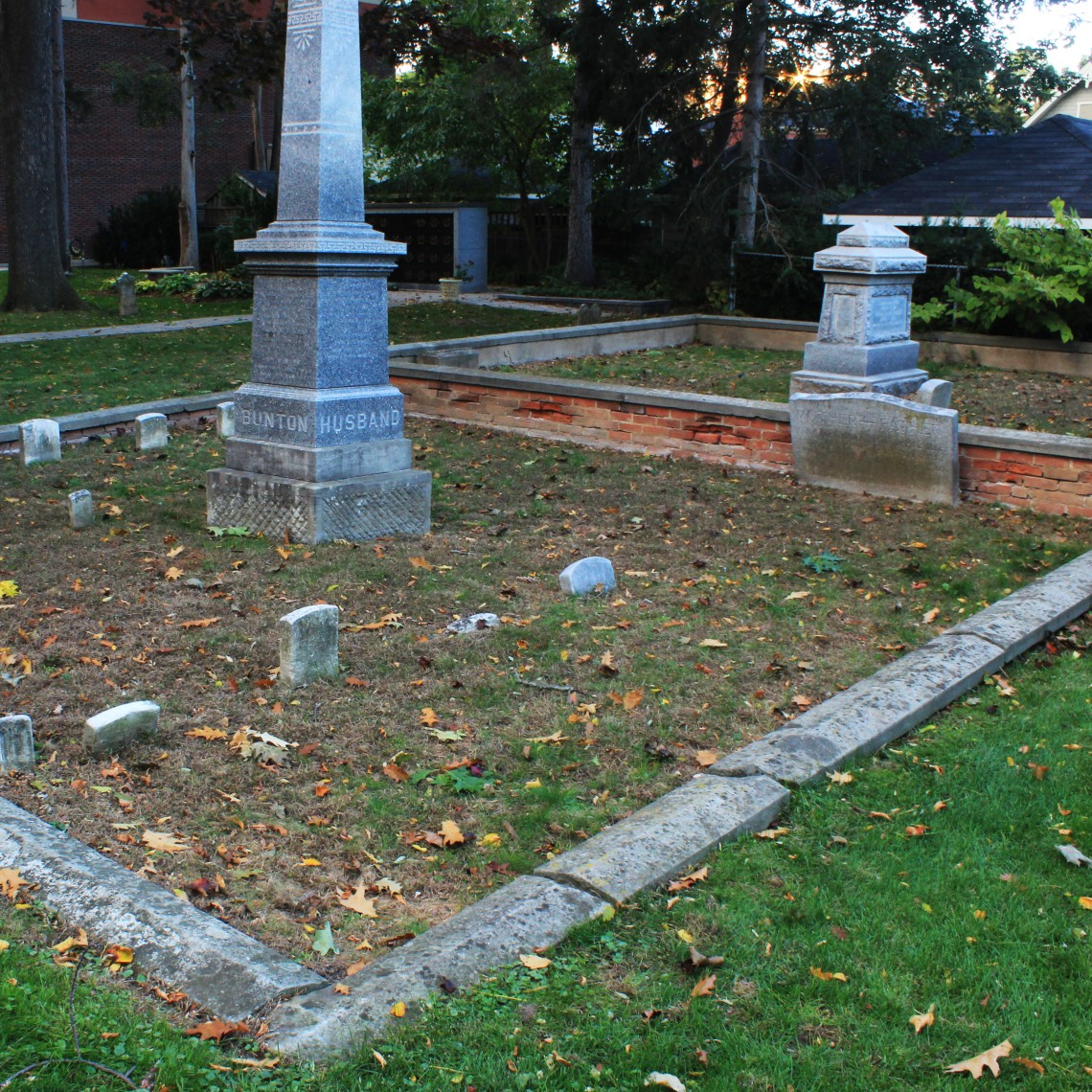 Here is an example of a family plot in St. Luke's Anglican Church cemetery, located in Burlington, Ontario. MacNab's cemetery may have been similar in appearance.