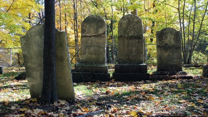 The 1803 Binkley Pioneer Cemetery, Hamilton (Ont). Photo by @erskinec