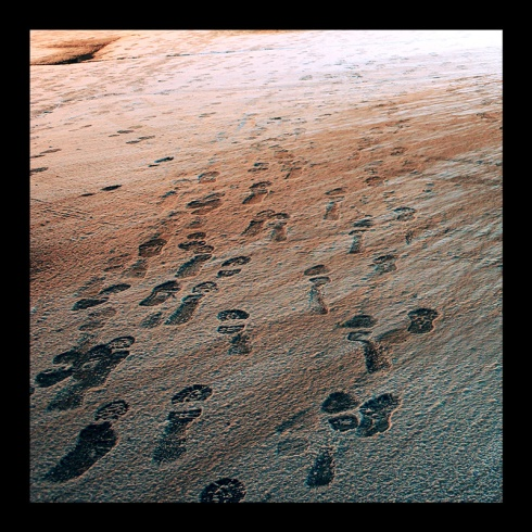 Footprints, Hamilton (Ont). Photo by @erskinec