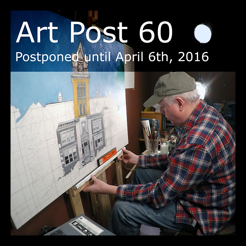 Artist's Notebook - delayed until April 4th