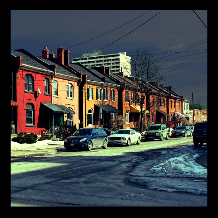 Corktown 19th Homes, Hamilton (Ont). Photo by urban landscape artist @erskinec