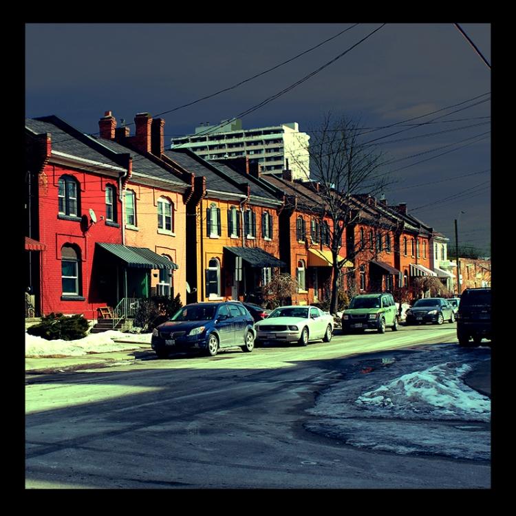 Corktown 19th Homes, Hamilton (Ont). Photo by urban landscape artist @erskinec