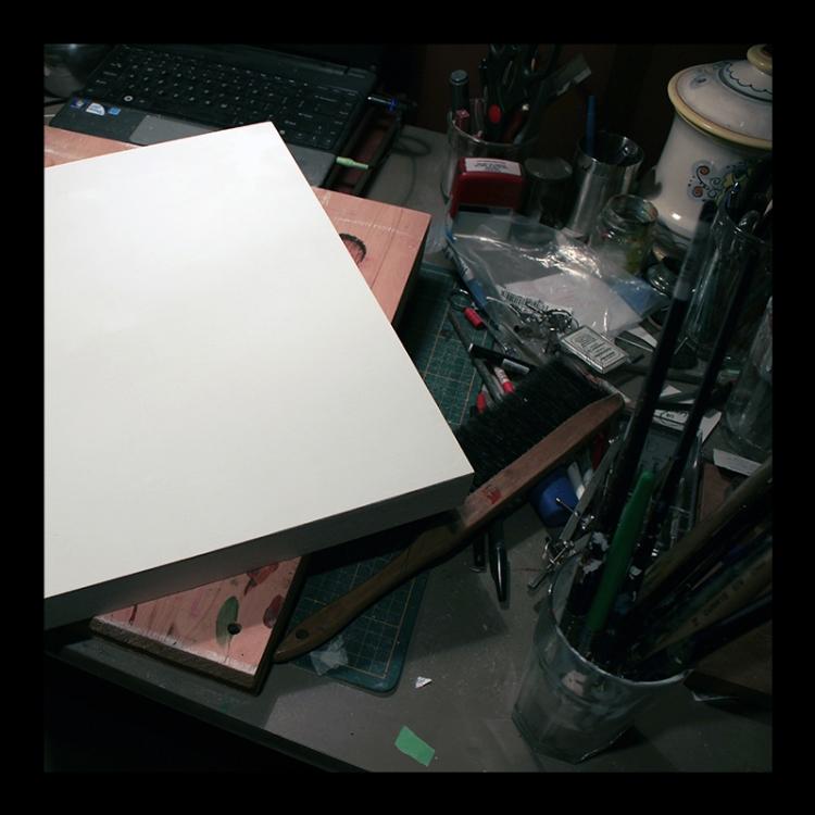 Preparing a Panel, Studio Work. Photo by @erskinec