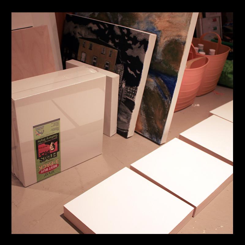 Preparing Panels, Studio Work. Photo by @erskinec