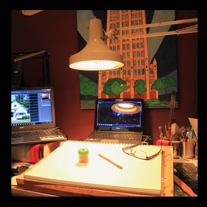 Preparatory Drawing, Studio Work. Photo by @erskinec