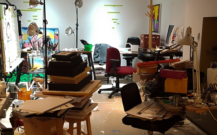 Chris Erskine's Art Studio